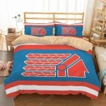 Cleveland Indians Duvet Cover Bedding Set