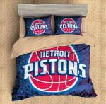 Detroit Pistons Duvet Cover Bedding Set