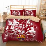 Fc Barcelona 2 Duvet Cover Bedding Set