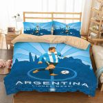 FIFA World Cup Russia 2018 Argentina Lionel Messi Duvet Cover Bedding Set