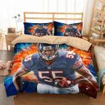 Hroniss Grasu Chicago Bears Duvet Cover Bedding Set