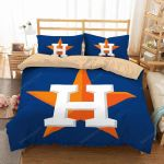 Houston Astros Duvet Cover Bedding Set