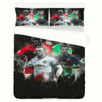 Manchester United Fc Football Club Duvet Cover Bedding Set