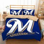 Milwaukee Brewers 2 Duvet Cover Bedding Set