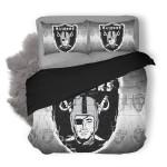NFL Oakland Raiders 3 Duvet Cover Bedding Set