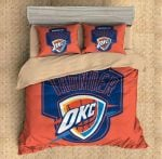 Oklahoma City Thunder Duvet Cover Bedding Set