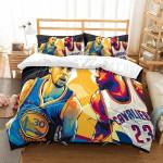 Stephen Curry Vs Lebron James Duvet Cover Bedding Set