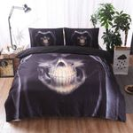 3D Grim Head Skull Duvet Cover Bedding Set