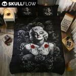 3D Marilyn Monroe Skull 2 Duvet Cover Bedding Set