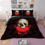 3D Skull Usa Cool 5 Duvet Cover Bedding Set