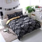 Black Bohemian Bones Duvet Cover Bedding Set