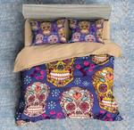 Colorful Skull 8 Duvet Cover Bedding Set