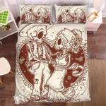 Couple Skull 2 Duvet Cover Bedding Set