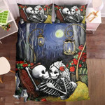 Couple Skull 1 Duvet Cover Bedding Set