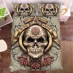 Floral Skull 1 Duvet Cover Bedding Set