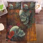 Floral Skull 2 Duvet Cover Bedding Set