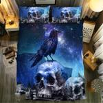 Galaxy Skull Crows Duvet Cover Bedding Set