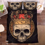 King And Rose Skull Duvet Cover Bedding Set