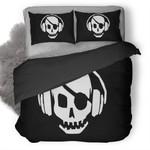 Pirate Skull Headphones Duvet Cover Bedding Set