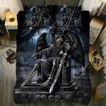 Reaper By Night Skull Duvet Cover Bedding Set
