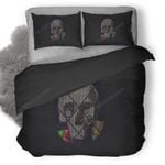 Skull Abstract Duvet Cover Bedding Set