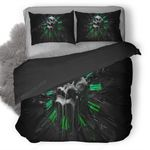 Skull Clock Duvet Cover Bedding Set