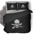 Skull Black And White Duvet Cover Bedding Set