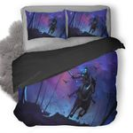 Skull Clear Night Rider Duvet Cover Bedding Set