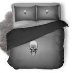 Skull Grey Duvet Cover Bedding Set