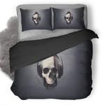 Skull Glitch Duvet Cover Bedding Set