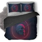 Skull In Circle Duvet Cover Bedding Set
