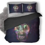 Skull Roses Colorful Duvet Cover Bedding Set