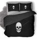 White Skull Logo Duvet Cover Bedding Set