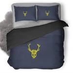 Yellow Skull Minimalist Duvet Cover Bedding Set