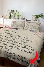 To my Wife - Personalize Duvet Cover Bedding Set