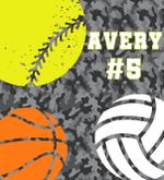 Custom Blankets Softball Volleyball Personalized Blanket - Fleece Blanket - Avery