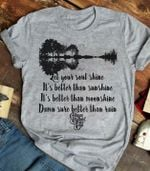 Allman Brother Band Soulshine Lyric Guitar For Fans T Shirt Hoodie Sweater