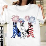 American Flag Colored German Shepherd Happy The Fourth Of July Usa Independence Day T Shirt