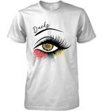 Anaheim Ducks Glitter Parttern Eye Printed T Shirt Hoodie Sweater