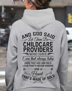 And God Said Let There Be Childcare Providers Who Have Ears That Always Listen T Shirt Hoodie Sweater