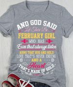 And God Said Let There Be February Girl Who Has Ears That Always Listen T Shirt Hoodie Sweater Sweater