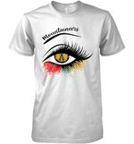Appalachian State Mountaineers Glitter Parttern Eye Printed T Shirt Hoodie Sweater