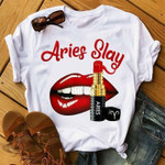 Aries Slay Lip And Lipstick T Shirt Hoodie Sweater