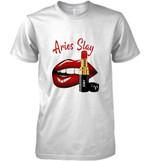 Aries Slay Sexy Lips Zodiac Sign T Shirt Hoodie Sweater