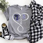 Back The Blue Movement Police Badge Love My Son T Shirt Hoodie Sweater