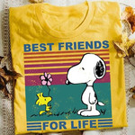 Best Friends For Life Snoopy Dog And Woodstock Peanuts Comic Vintage T Shirt