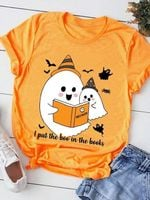 Boo Bees I Put The Boo In The Books Halloween T Shirt Hoodie Sweater