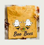 Boo Bees Knit Wool Cute Ghost Halloween Star T Shirt