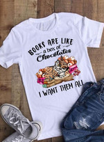 Books Are Like A Box Of Chocolates I Want Them All Owl For Lovers T Shirt Hoodie Sweater