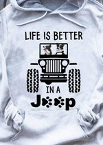Border Collie Life Is Better In A Jeep T Shirt Hoodie Sweater